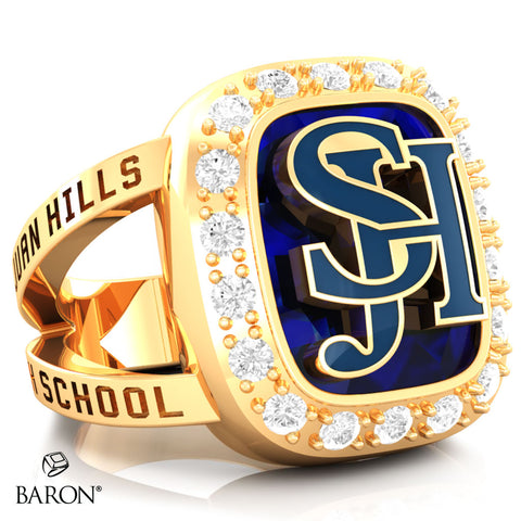 San Juan Hills Renown Class Ring (Gold Durlium, 10kt Yellow Gold) - Design 5.2