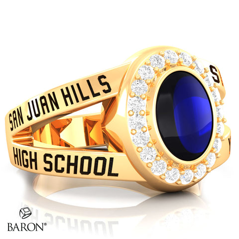 San Juan Hills Class Ring - 3059 (Gold Durilium, 10KT Yellow Gold) - Design 8.2