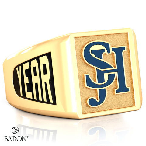 San Juan Hills SS Signet Class Ring (Gold Durilium, 10kt Yellow Gold) - Design 6.2