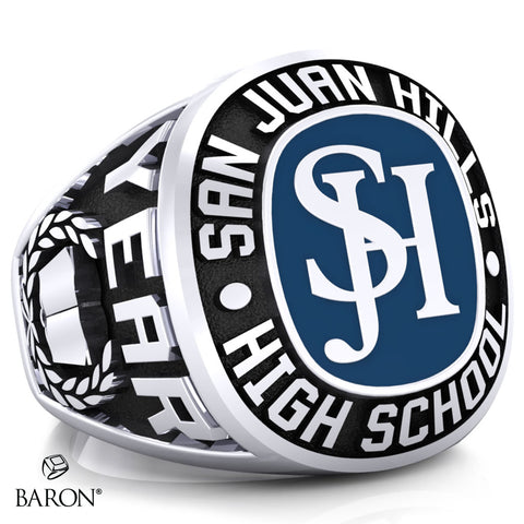 San Juan Hills Exclusive Class Ring (Durilium/Silver/10Kt White Gold) - Design 1.1