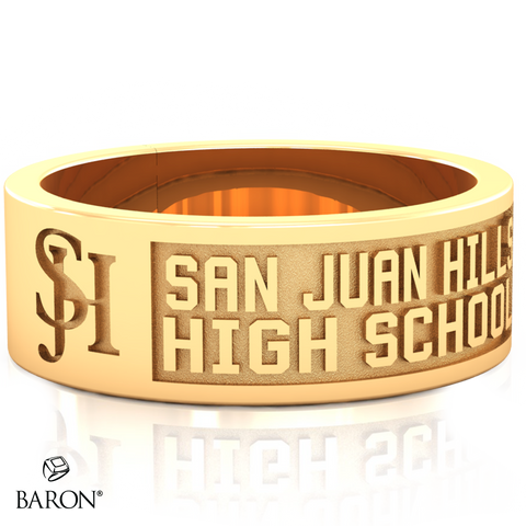 San Juan Hills Class Ring - 3111 (Gold Durilium, 10KT Yellow Gold) - Design 9.2