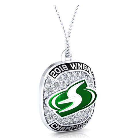 Seattle Storm Ring Top Pendant - Design 1.3.C
