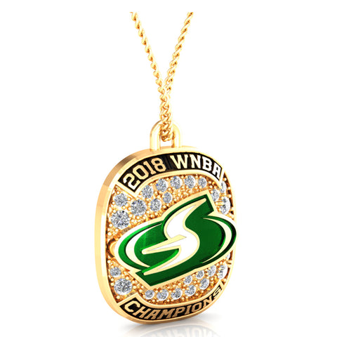 Seattle Storm Ring Top Pendant - Design 1.3.E