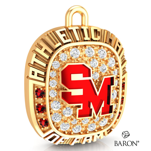 Staples-Motley Athletic Hall of Fame Ring Top Pendant - Design 1.26