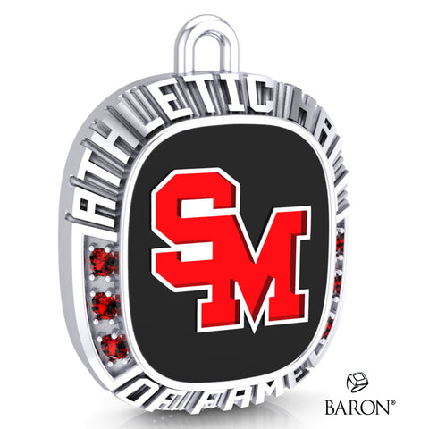 Staples-Motley Athletic Hall of Fame Ring Top Pendant - Design 1.27
