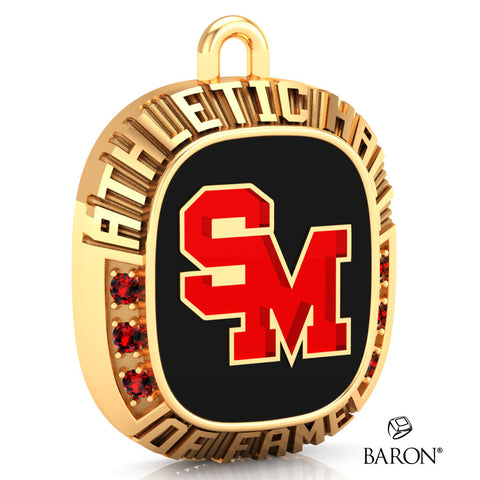 Staples-Motley Athletic Hall of Fame Ring Top Pendant - Design 1.25