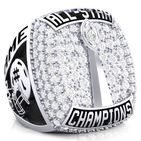 Texas Elite Tribe Football Championship Ring - Design 1.5