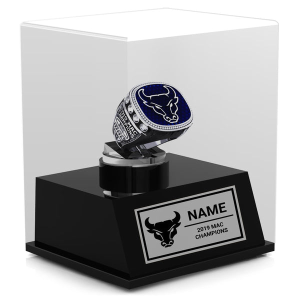 The University At Buffalo Mens Basketball 2019 Championship Display Case