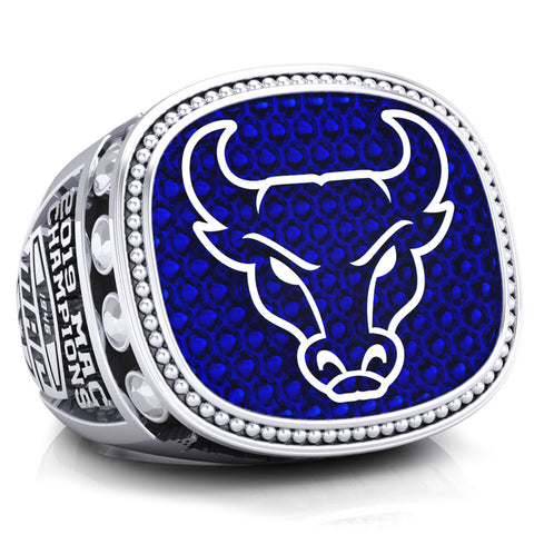 The University At Buffalo Bulls Mens Basketball 2019 Ring - Design 2.16
