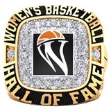 Women's Basketball Hall of Fame Ring(Gold Durilium, 6K Yellow Gold, 10K Yellow Gold, 14K Yellow Gold)
