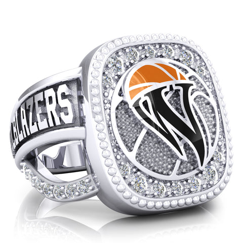 WBHOF Trailblazers of the Game Renown Ring - (Durilium, 6KT White Gold, 10KT White  Gold, 14KT White Gold) - Design 1.5