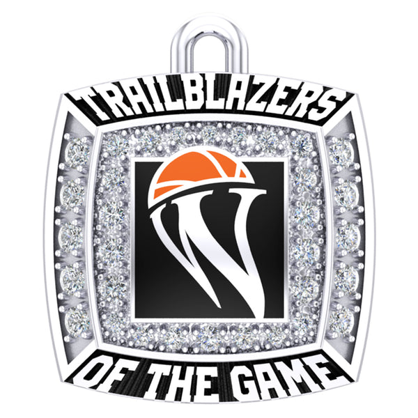 WBHOF Trailblazers of the Game Ring Top Pendant - (Durilium, 6KT White Gold, 10KT White  Gold, 14KT White Gold) - Design 2.1