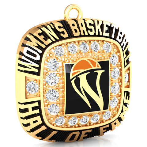 Womens Basketball Hall of Fame Pendant (Gold Durilium, 6K Yellow Gold, 10K Yellow Gold, 14K Yellow Gold)