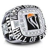 Women's Basketball Hall of Fame Ring(Durilium, 6K White Gold, 10K White Gold, 14K White Gold) - Design 1.2