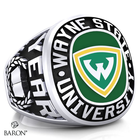 Wayne State University Exclusive Class Ring (Durilium/Silver/10Kt White Gold) - Design 1.1