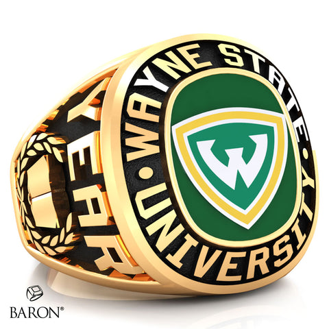 Wayne State University Exclusive Class Ring (Gold Durilium/10KT Yellow Gold) - Design 1.2