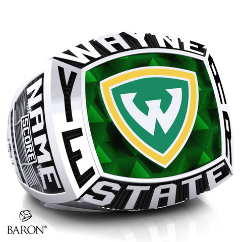 Wayne State University Athletic Ring - 800 Series (Durilium/Silver/10Kt White Gold) - Design 2.1