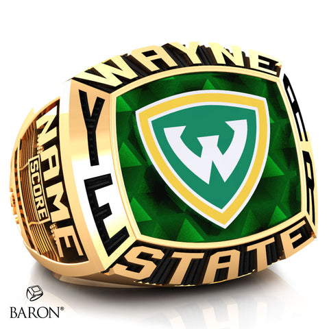 Wayne State University Athletic Ring - 800 Series (Gold Durilium/10KT Yellow Gold) - Design 1.2