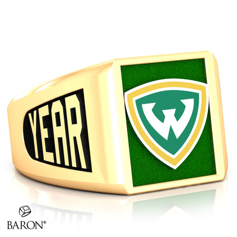 Wayne State University SS Signet Class Ring (Gold Durilium, 10kt Yellow Gold) - Design 6.2