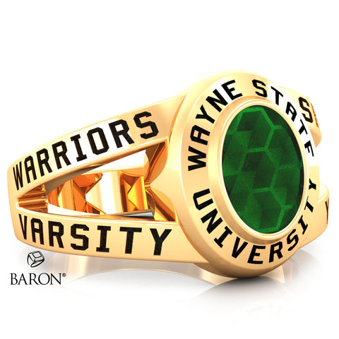 Wayne State University Class Ring - 3059 (Gold Durilium, 10KT Yellow Gold) - Design 8.2