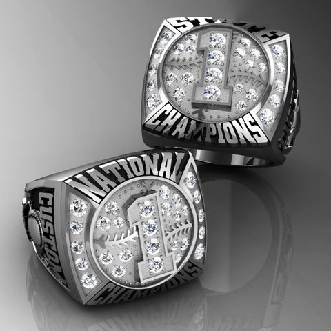 Championship Baseball Ring with Cubics