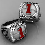 Championship Baseball Ring with Glass Enamel