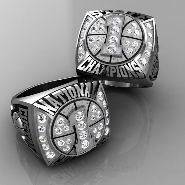 Championship Basketball Ring with Cubics