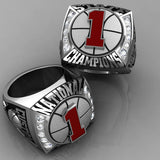 Championship Basketball Ring with Glass Enamel