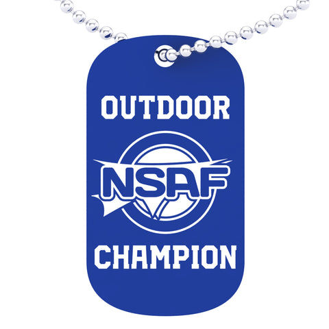 NSAF Outdoor National Champion Dog tag
