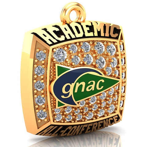 GNAC Academic All-Conference Pendant (Gold Durilium)