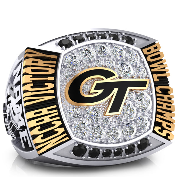 Geneva College Golden Tornadoes Ring - Design 1.3