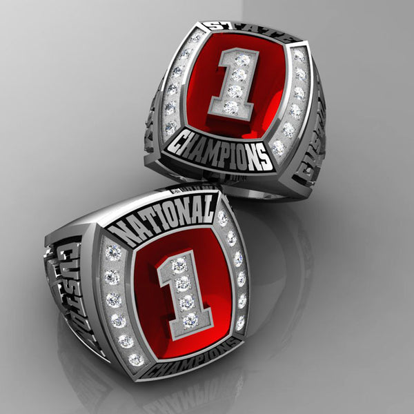 Championship Hockey Ring with Glass Enamel