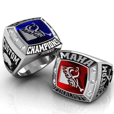 Championship MAHA Ring with Glass Enamel