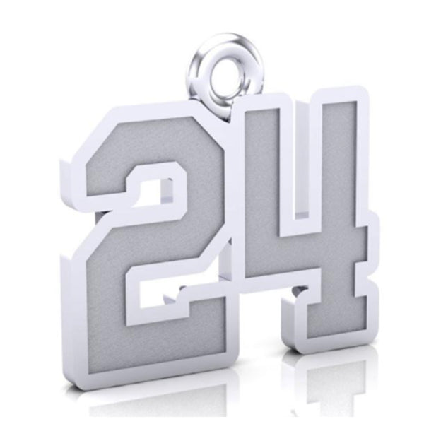 Bedford Bulldogs Number Pendant