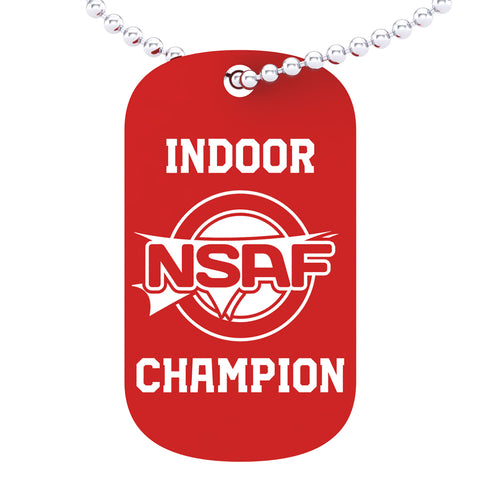NSAF Indoor National Champion Dog tag