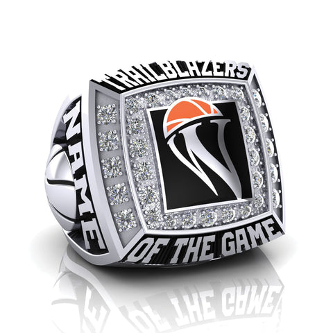 WBHOF Trailblazers of the Game Ring - (Durilium, 6K White Gold, 10K White Gold, 14K White Gold)