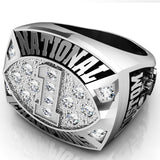 Championship Football  Ring with Cubics