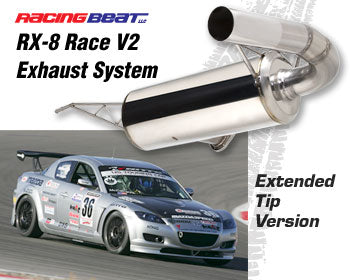 Racing Beat Race Exhaust System V2 Extended Tip 04-08 RX-8, 16391