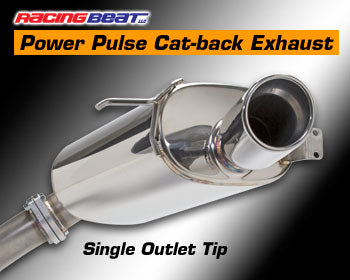 Racing Beat Cat-Back Exhaust Single Tip 93-95 RX-7, 16426