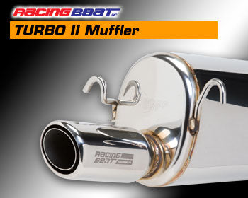 Racing Beat REV TII Muffler - Left RX-7 87-91 Turbo II, 16450