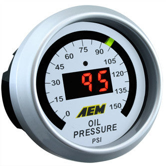 AEM Digital Oil Pressure Gauge 0 to 150 psi 30-4407