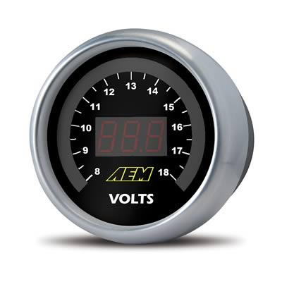 AEM Digital Gauge Kit: Voltmeter (52mm), 30-4400