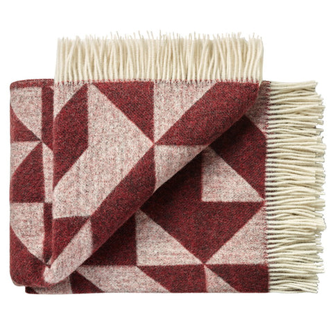 Tina Ratzer Twill Throw Bordeaux