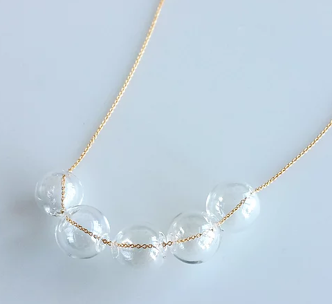 Hyworks Gold Bubbles Necklace
