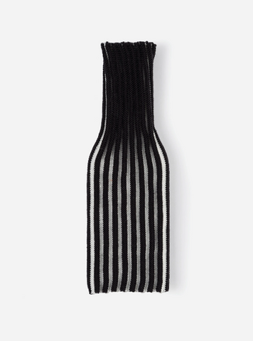 Verloop Knit Bottle Sleeve Black White Stripe
