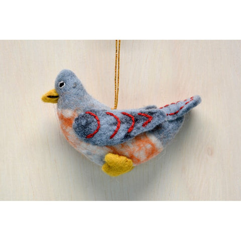 BNB-Bird Ornament-Orange