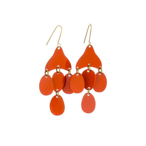 Sibilia Medusa Papaya Earrings