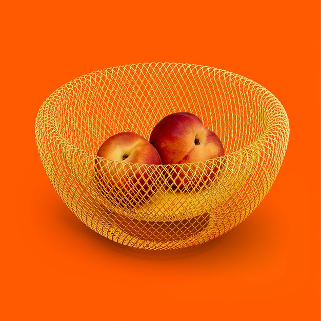 MoMA Wire Mesh Bowl - Yellow