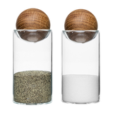 Sagaform Oval Oak Salt + Pepper Shakers