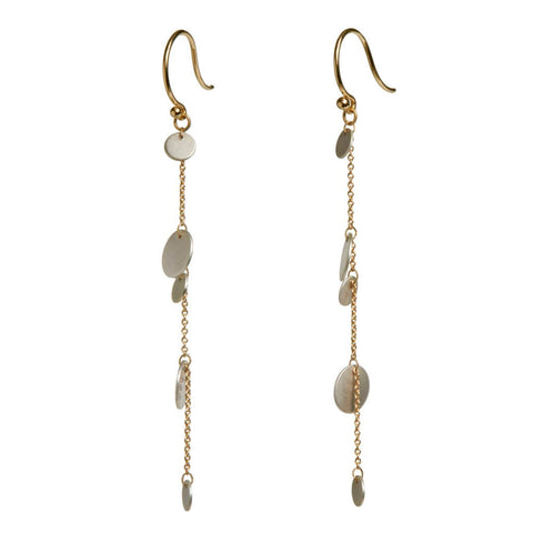 Carla Caruso Confetti Cascade Drop Earrings 14K